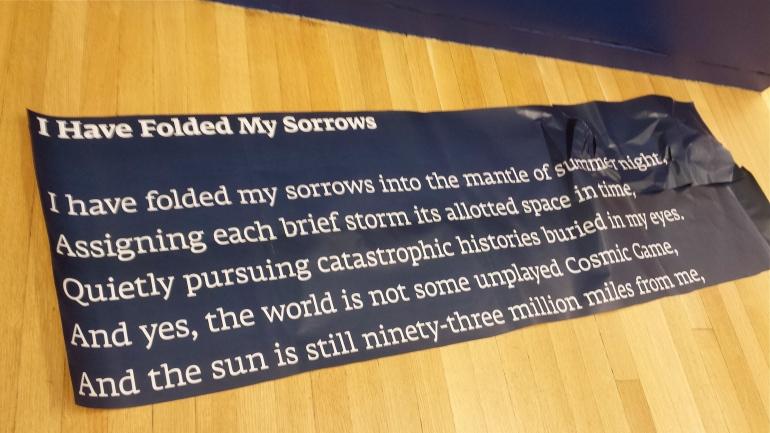 I have folded my sorrows...